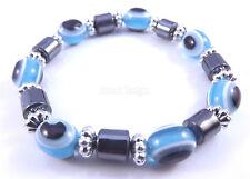 Mauvais Oeil Bleu Kabbale Bracelet Main De Hamsa De Fatima Amulette Argent Charm