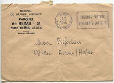 LETTRE PARQUET DE REIMS POUR AVESNES 1976 FLAMME