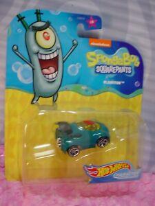 Spongebob Squarepants PLANKTON 4/6✰nickelodeon✰2020 Hot Wheels Character cars