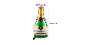 Champagne, Bottle, Glass, Wine, Whiskey, Beer,drink, foil Balloons – for party