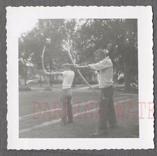 Vintage Photo College Boys Shooting Archery Bow & Arrows 744514