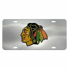 Fanmats NHL Chicago Blackhawks Stainless Steel Diecast License Plate Inlay