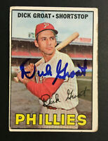 Dick Groat Phillies signed 1967 Topps baseball card #205 Auto Autograph 2