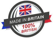 Fabriqué en grande-bretagne 100% britannique rosette & union jack drapeau vinyle autocollant voiture décalque