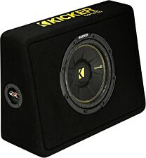 "Kicker 44Tcwc104 Car Audio 10"" Compc Subwoofer Enclosure Thin Box 4-Ohm Tcwc104"