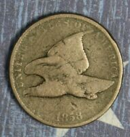 1858 FLYING EAGLE CENT COLLECTOR COIN FREE SHIPPING