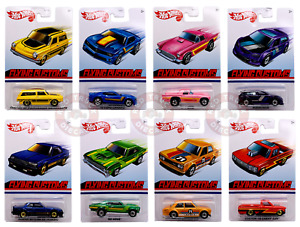 HOT WHEELS 2020 ~ FLYING CUSTOMS MIX / CASE A ~ Set of 8 from the box