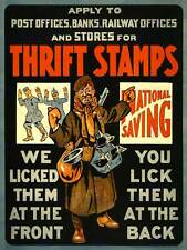PROPAGANDA WAR WWI CANADA THRIFT STAMPS SAVING FUND ART PRINT POSTER BB7037B