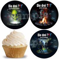 Eßbar Die Drei ??? Muffinaufleger NEU Party Deko Tortenbild Geburtstag Tüte dvd