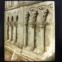 Interlaced Norman Arches Tickencote Antique Magic Lantern Glass Slide Photo