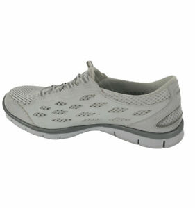 Skechers Womens Air Cooled Memory Foam Slip On White Sneakers Size 7.5 SN22603