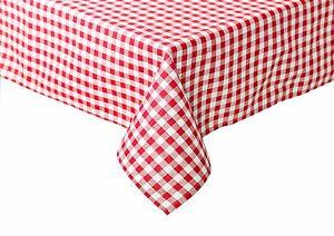 Tischdecke Tischwäsche Bauernkaro kariert Züchen Vichy Baumwolle rot-weiß