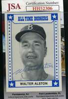Walter Alston 1980 Tcma JSA Coa Autograph Authentic Hand Signed