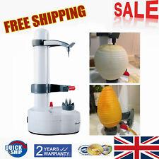 UK Electric Potato Peeler Automatic PEAR Apple Fruit Cutter Slicer Kitchen Tool
