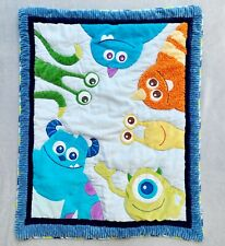 Disney Baby Monsters Inc Crib Blanket Quilt Nursery Bedding Embroidered Retired