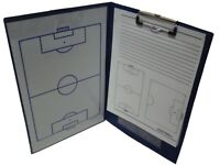A4 Magnetic Football Coaching Board Tactics Folder With Paper Fitness Heath New