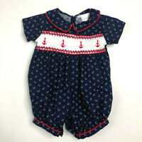 Rachel Riley Of London 6 Months Smocked Nautical Romper One Piece