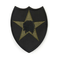 Indian WarChief Shield Military Army Morale Gestickt Patch HookLoop Abzeichen T4