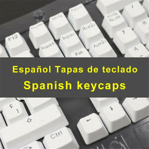 Spanish Keycaps for Mechanical Keyboard with MX Switches Double Shot 105 keys