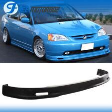 Fits 01-03 Honda Civic 2 4Dr Front Bumper Lip Spoiler Mugen Style Polypropylene