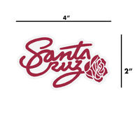 Santa Cruz Rosa Script Rose Skateboard Sticker Decal Old School Screaming Hand