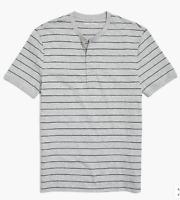 JCrew Mercantile Short-Sleeve Striped Henley In Slub Cotton M was $39