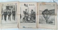 The Sydney Mail Newspapers x 3 Editions 1915 WW1 Gallipoli - Scarce!