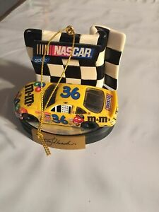 2002 Nascar M&Ms Dated Collectible Ornament Ken Schrader # 36 no box winners