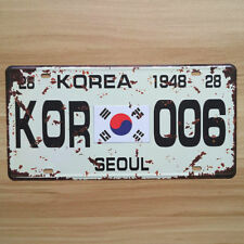 Decorative Novelty License Plate Tin Metal Sign - Seoul - South Korea