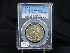 1918-S Walking Liberty Half Dollar - PCGS Genuine UNC Details  (16-892)