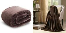 "Hyseas Velvet Throw, Light Weight Plush Luxurious Throw(50""x60""), Chocolate"