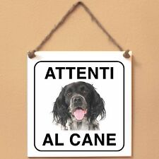 Munsterlander 2 Attenti al cane Targa cane cartello ceramic tiles