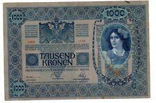 Autriche HONGRIE AUSTRIA HUNGARY Billet 1000 Kronen 1902 (1919 ) SANS LE TAMPON