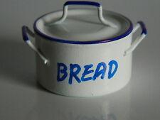 (KP1-10) DOLLS HOUSE METAL WHITE ENAMEL STYLE  BREAD BIN