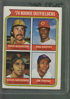 1974 TOPPS #598 KEN GRIFFEY SR ROOKIE OUTFIELDERS RC REDS ROOKIE CARD BK$12.00 A