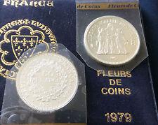 RARE FDC : 50 francs HERCULE argent 1979 neuve/scellée