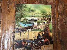 """Only the Brave"" Jigsaw Puzzle Paramount Western 1930's No Box Color Puzzle"
