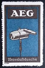 Peter Behrens Poster Stamp AEG hairdryer Bauhaus 20th Century Industrial Design