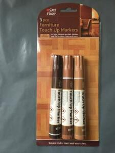 3 PCs Furniture Touch up Markers Remove Scratches Laminate Wood Floor Repair Pen