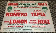 JOHNNY TAPIA V RUIZ/DANNY ROMERO V LONON-SUPERFLY-1994-BOXING POSTER-RARE TAPIA!