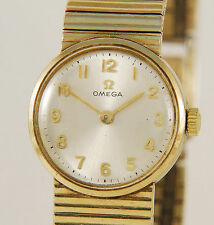 Omega Mechanical (Hand-winding) Solid Gold Strap Watches
