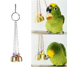 Pets Birds Parrots Colorful Toys Hanging Cage Metal Bells For Mini Medium Small