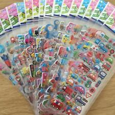 5 Sheets 3D Lovely Cartoon Bubble Stickers for Kids-Gift Toy Soft UV printing