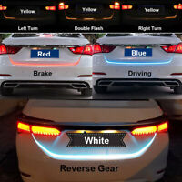 LED Car Tail Trunk Tailgate Strips Lights Brake Driving Signal Flowing 120cm