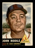 1953 Topps Set Break # 274 John Riddle EX *OBGcards*