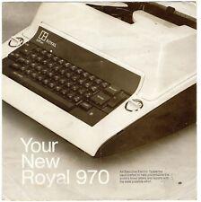 ROYAL No.970 TYPEWRITER INSTRUCTION MANUAL Original User Vtg Litton Electric