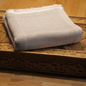 Kaschmir Decke Beige Taupe Fischgräte Cashmere 115x250 Kuscheldecke Geschenk