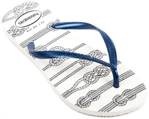 HAVAIANAS Slim Nautical H4137125-0001 Badeschuhe Badelatsche Zehentrenner Damen