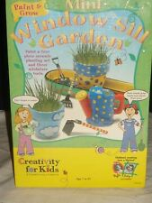 New Mini Window Sill Garden Paint & Grow Craft Set by Creativity For Kids