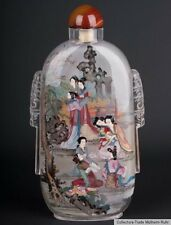 La Chine 20. JH. verre-A large Chinese Glass snuff bottle cinese tabatiere chinois